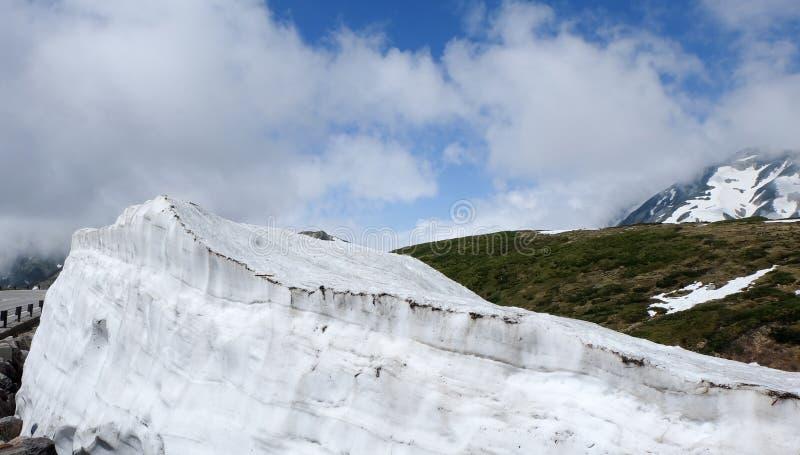 富山,日本-馆山Kurobe高山路线 免版税库存照片
