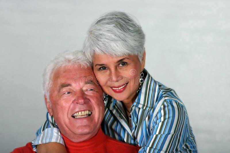 富感情的夫妇成熟 库存照片