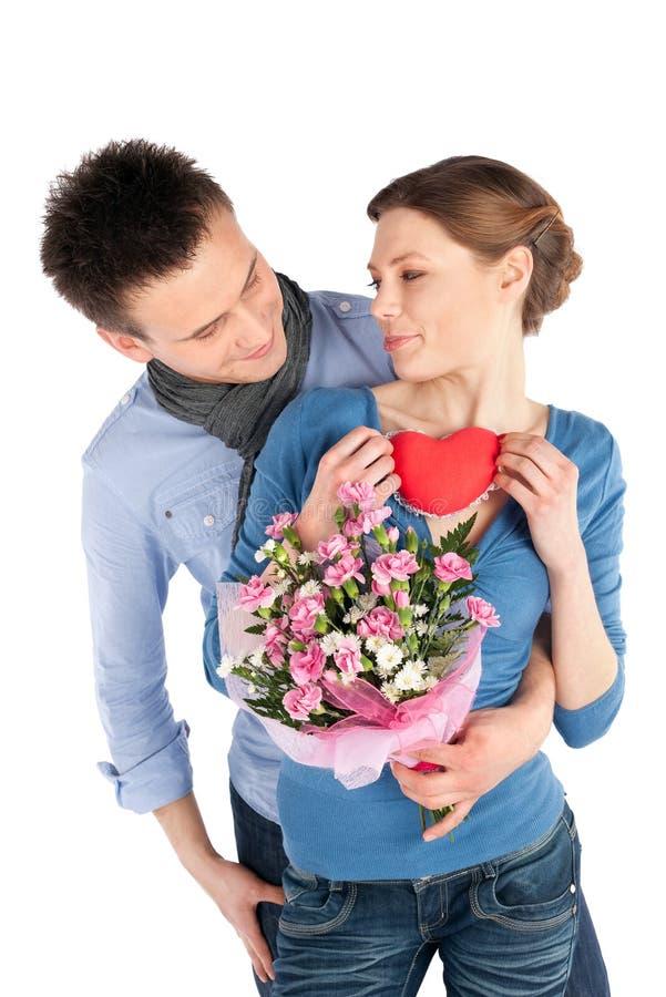 富感情的夫妇爱年轻人 免版税库存照片