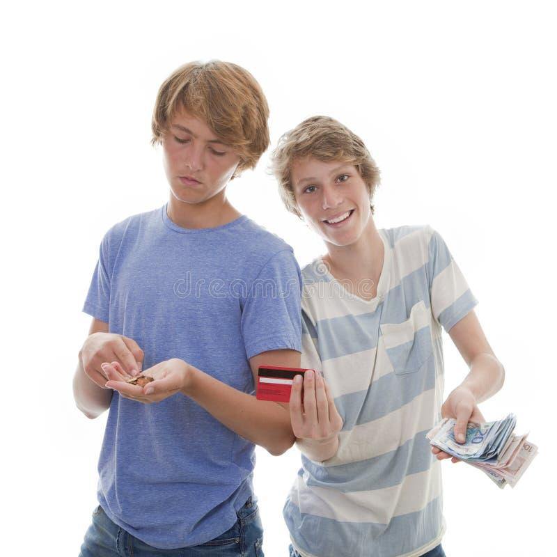 富有的孩子恶劣青少年 库存图片