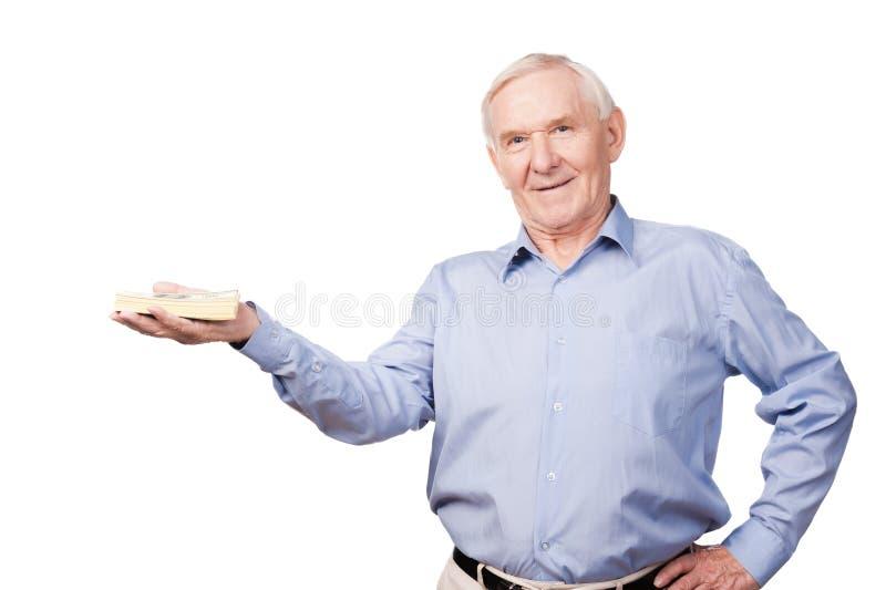 富有的老人 免版税图库摄影