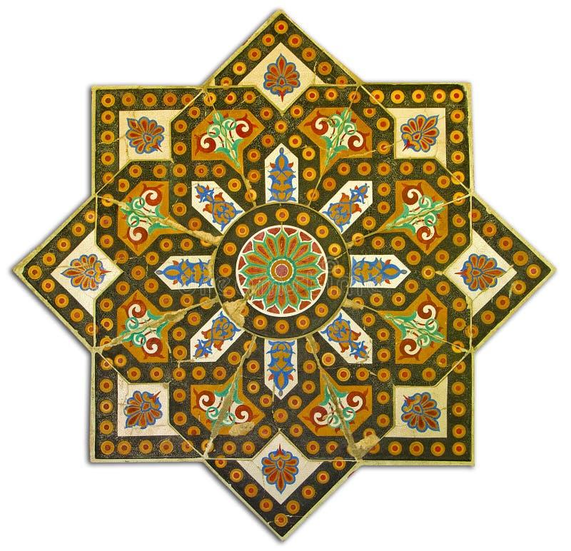 富有的葡萄酒铺磁砖了样式装饰 库存图片