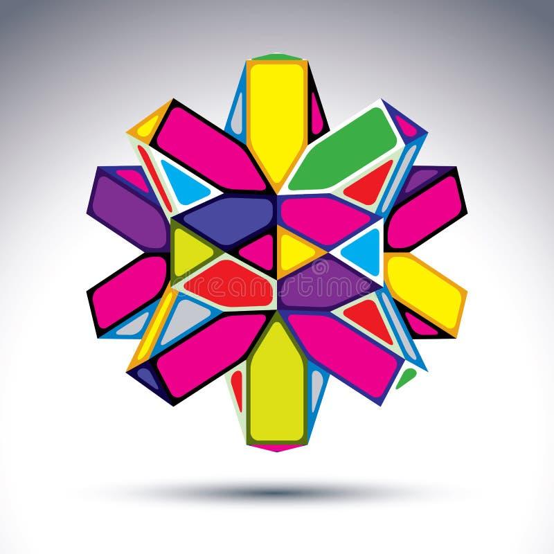富有的3d分数维荧光的形象从的三角修建了 皇族释放例证