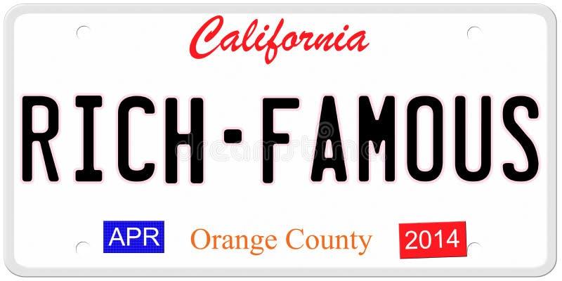 富有-著名加利福尼亚 库存例证