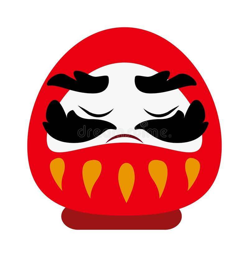 财富繁荣传统动画片平的传染媒介标志的中国上帝 皇族释放例证