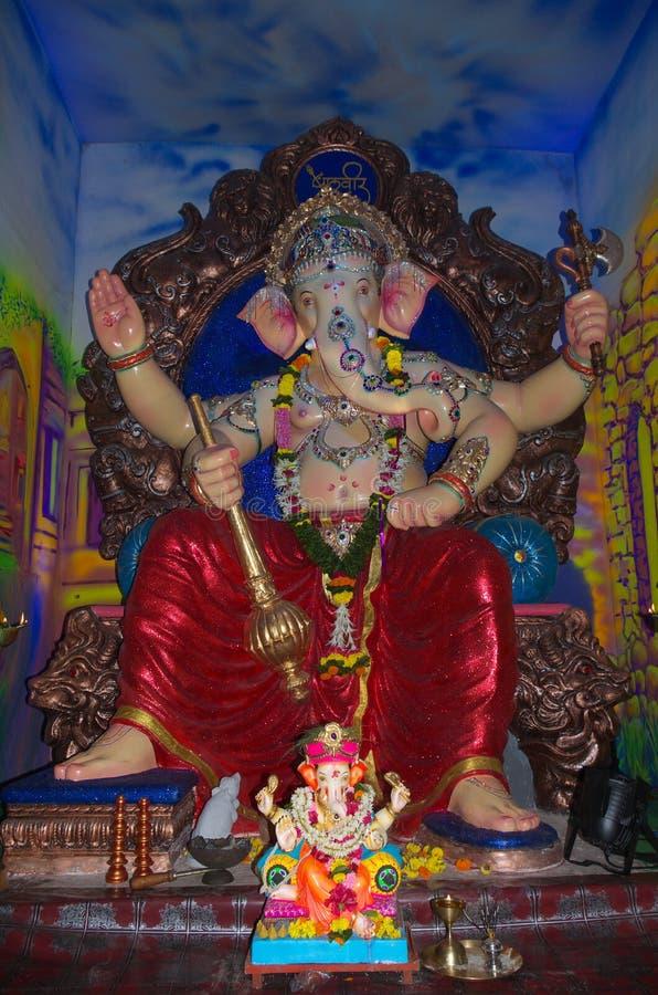 富裕的印地安神阁下Ganesh-II 图库摄影