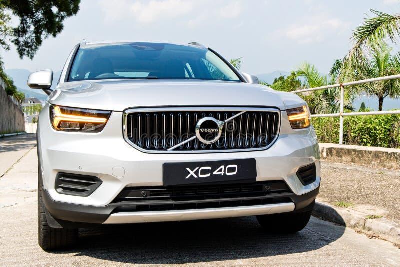 富豪集团XC40 T4 2018实验驾驶天 免版税库存照片