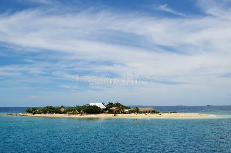 富饶斐济小岛 库存照片