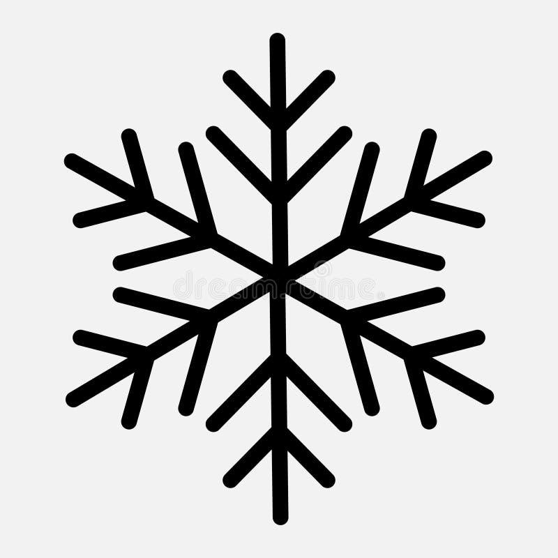 寒假卡片的雪花模板 库存例证
