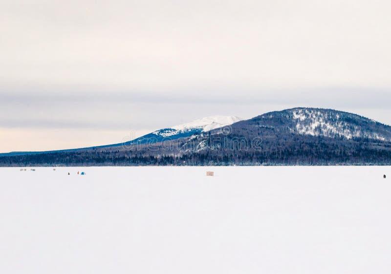 寒假在Zyuratkul国立公园 车里雅宾斯克地区 俄国 库存照片