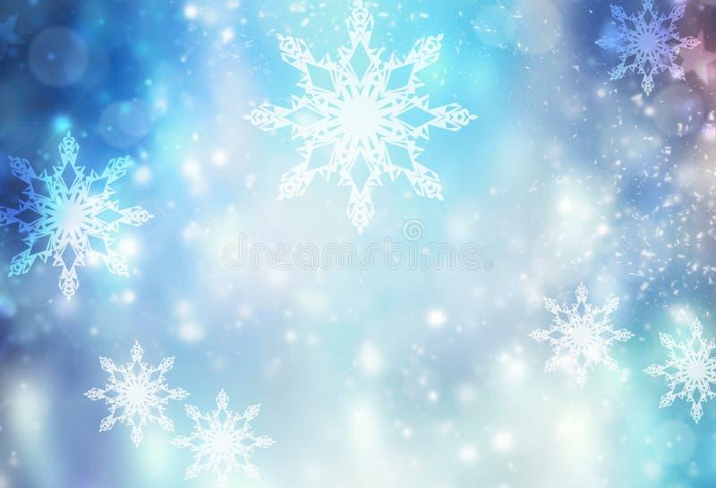寒假xmas蓝色例证背景 库存例证