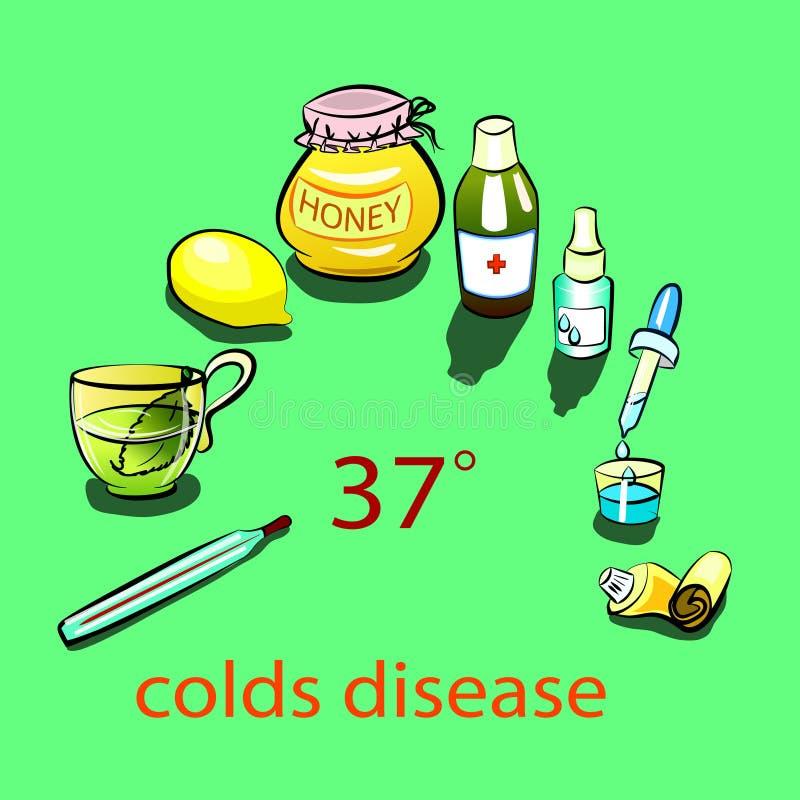 寒冷疾病 库存例证