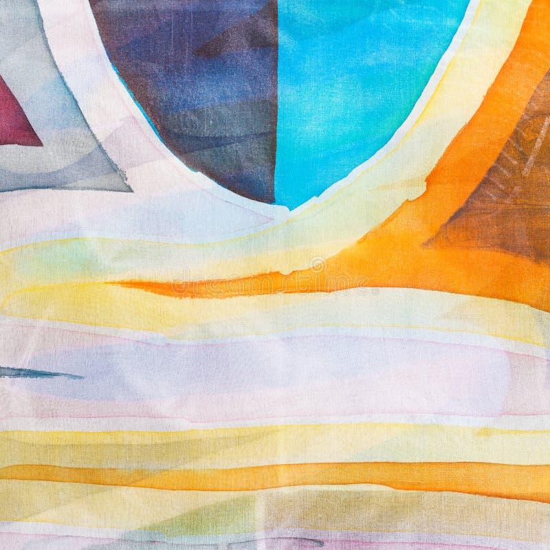 寒冷被绘的蜡染布的抽象样式 向量例证