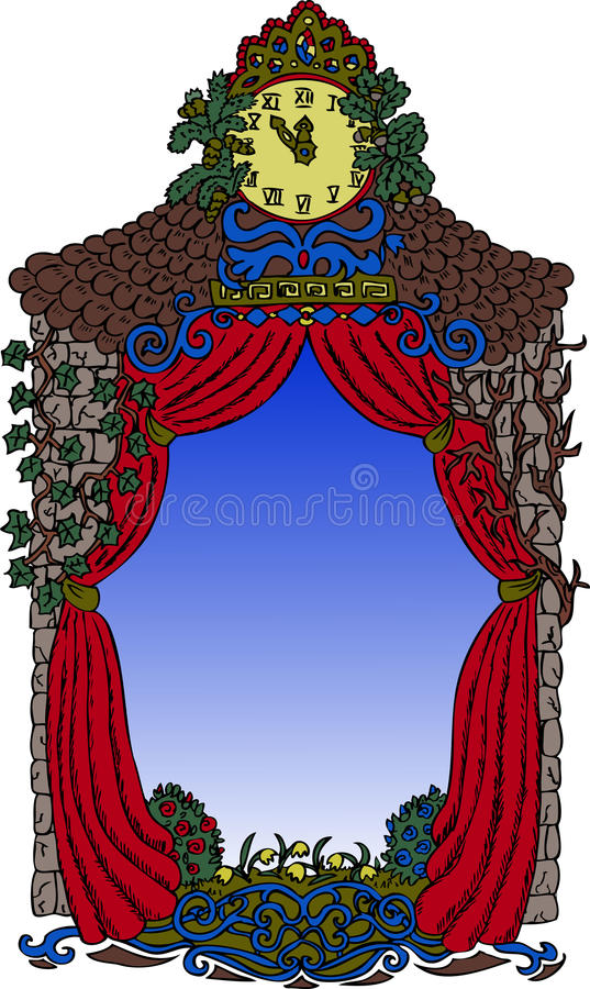 Download 寓言边界 向量例证. 插画 包括有 窗帘, 房子, 节假日, 装饰, 童话, 例证, 拱道, 动画片, 王国 - 30328908