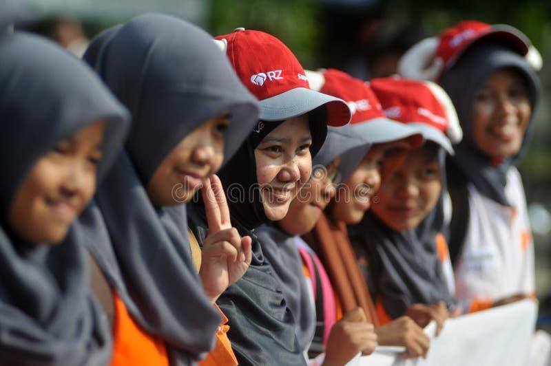对'牺牲的'一次竞选在Eid AlAdha庆祝前在印度尼西亚 图库摄影
