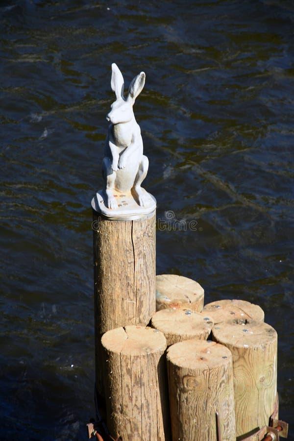 对一个野兔的纪念碑在彼得和保罗堡垒在圣彼德堡,俄罗斯 免版税库存照片