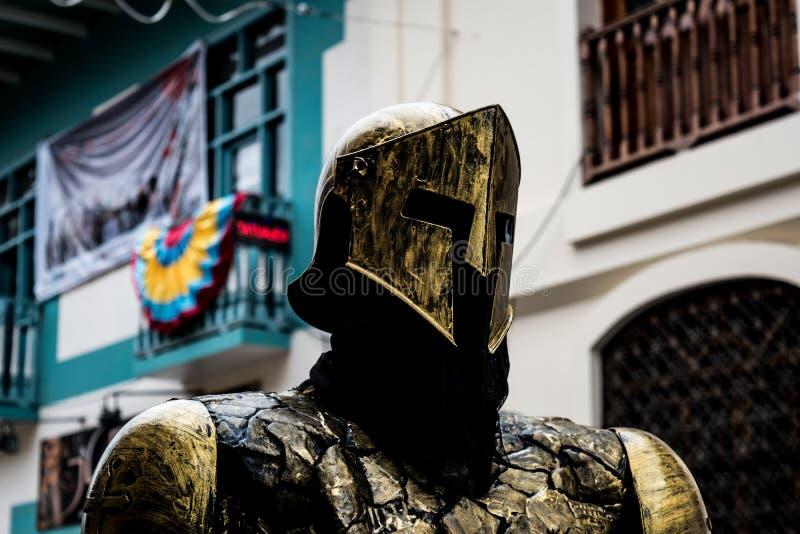 对一个金黄骑士的尊敬 免版税库存照片