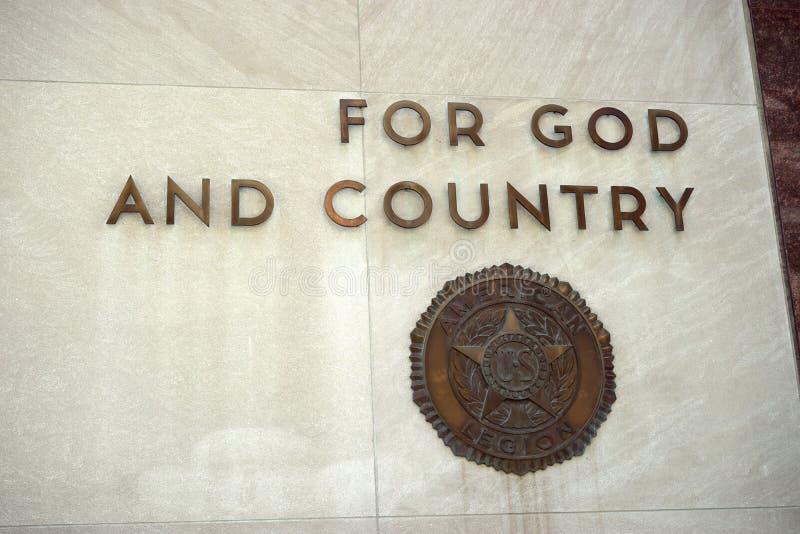 对上帝和国家 库存照片