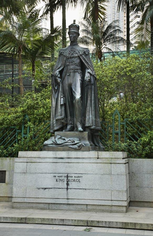 对乔治六世国王的纪念碑在香港园 中国 免版税库存图片