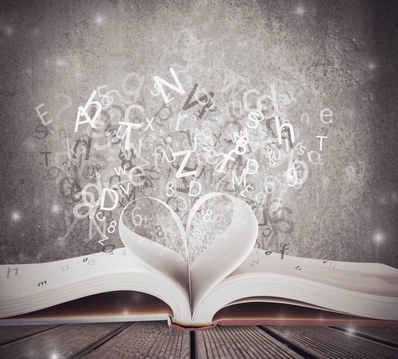 对书的爱 免版税库存图片