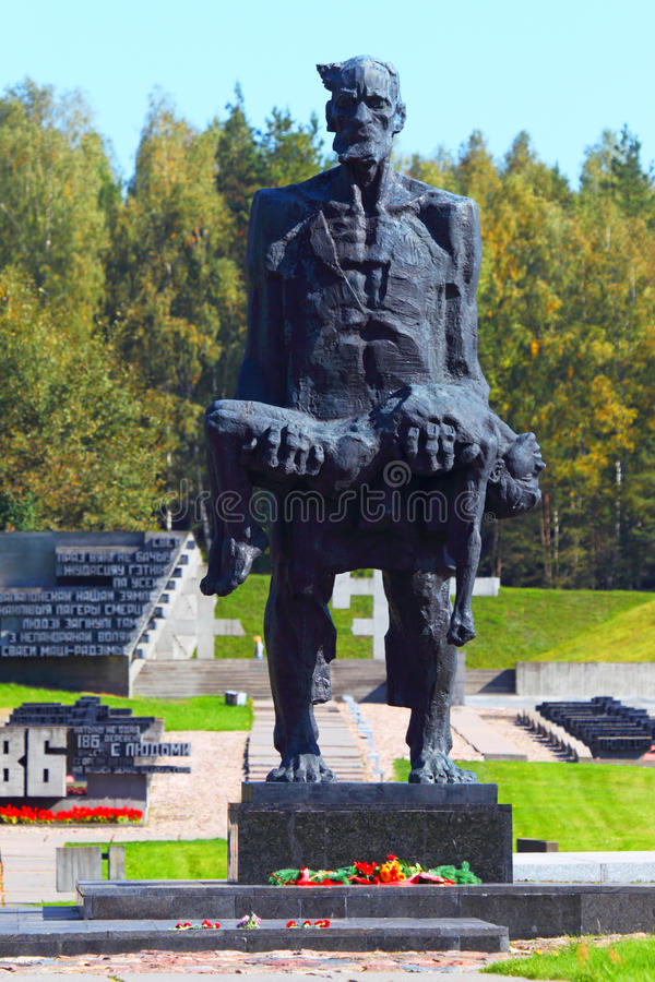 对二战纳粹主义的受害者的纪念品在苏联 免版税库存照片