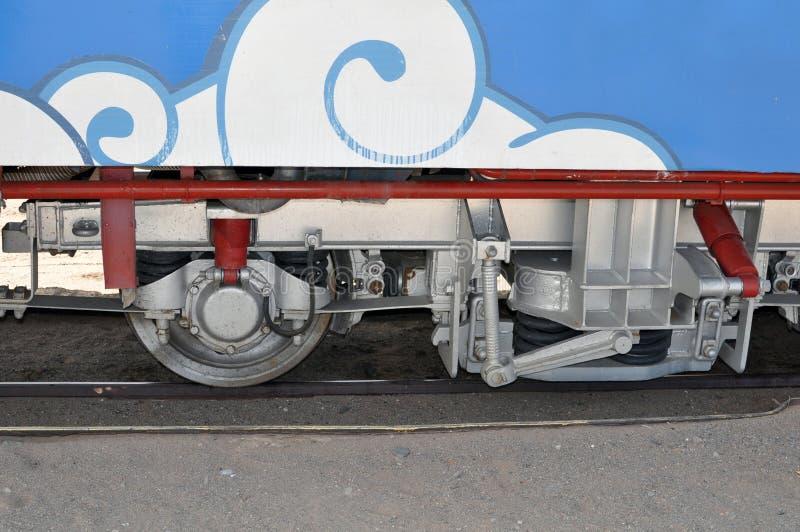 对云彩的火车在萨尔塔省,阿根廷 免版税库存照片
