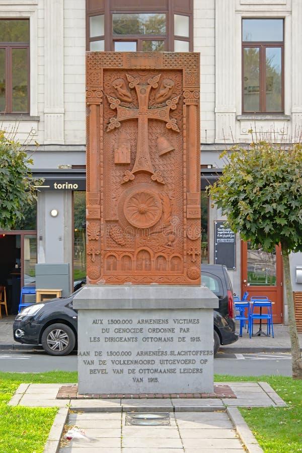 对亚美尼亚种族灭绝的受害者的纪念碑由奥托曼政府的 免版税库存图片