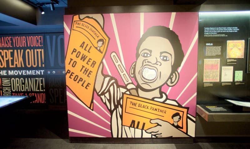 对人展览的所有力量在洛林汽车旅馆的全国民权博物馆里面 库存照片