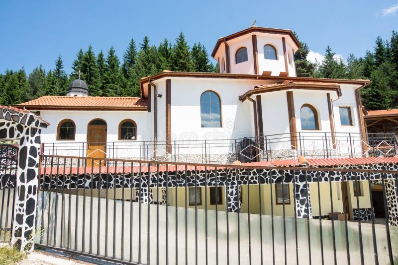 对企业化合物的入口在圣徒Panteleimon修道院里Rhodopes的 库存照片