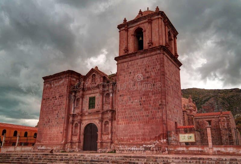 对伊格莱西亚de圣伊莎贝尔de Pucara,普诺,秘鲁的外视图 免版税库存图片