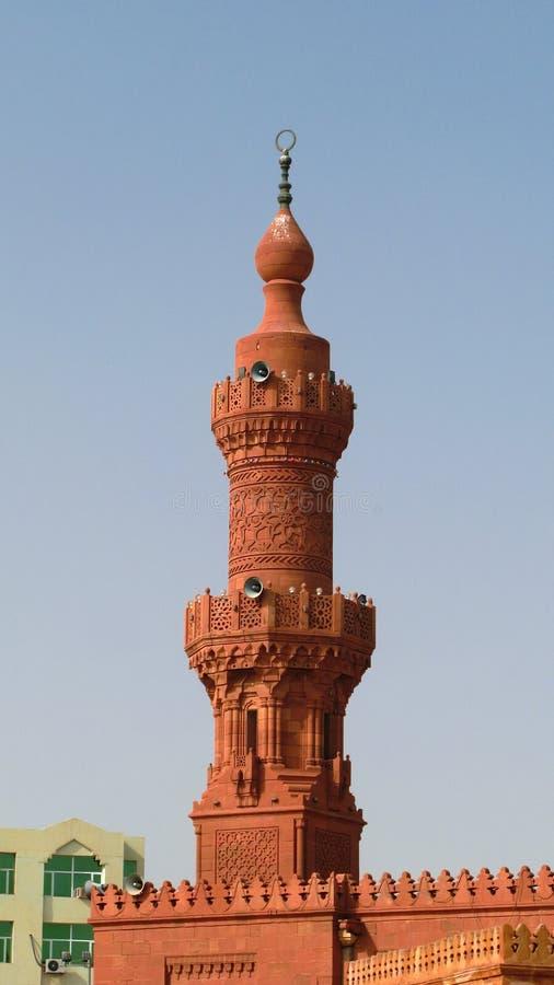 对伟大的Masjid尖塔,喀土穆,苏丹的外视图 库存图片
