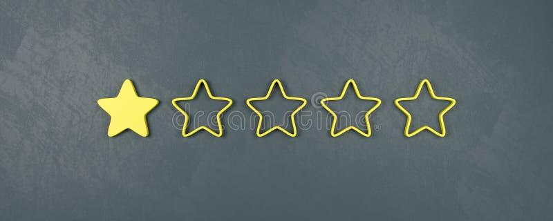 对估计五个的星之一,非常坏对估计的概念 皇族释放例证