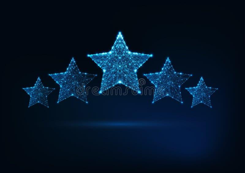 对估计五个的星,豪华服务,客户满意概念 向量例证