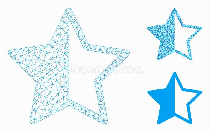 对估计的星传染媒介滤网接线框模型和三角马赛克象 库存例证
