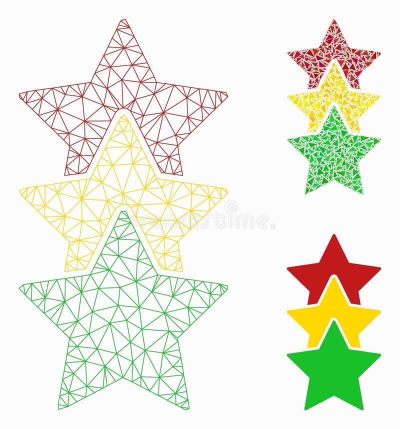 对估计的星导航网状网络模型和三角马赛克象 向量例证