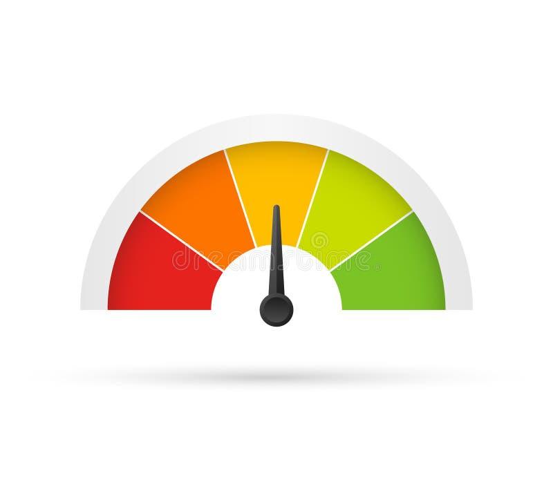 对估计的用户满意米 从绿化的红色的另外情感艺术设计 摘要概念图表元素  库存例证