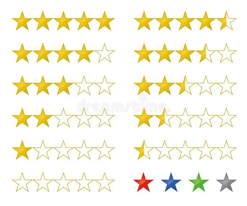 对估计金黄的星和回顾象 库存例证