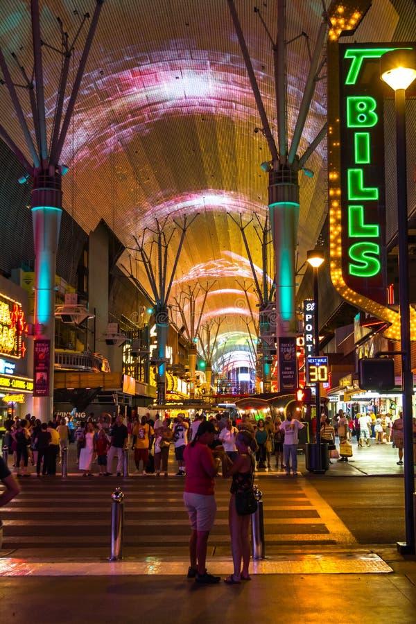 对佛瑞蒙街,拉斯维加斯的入口 免版税库存图片