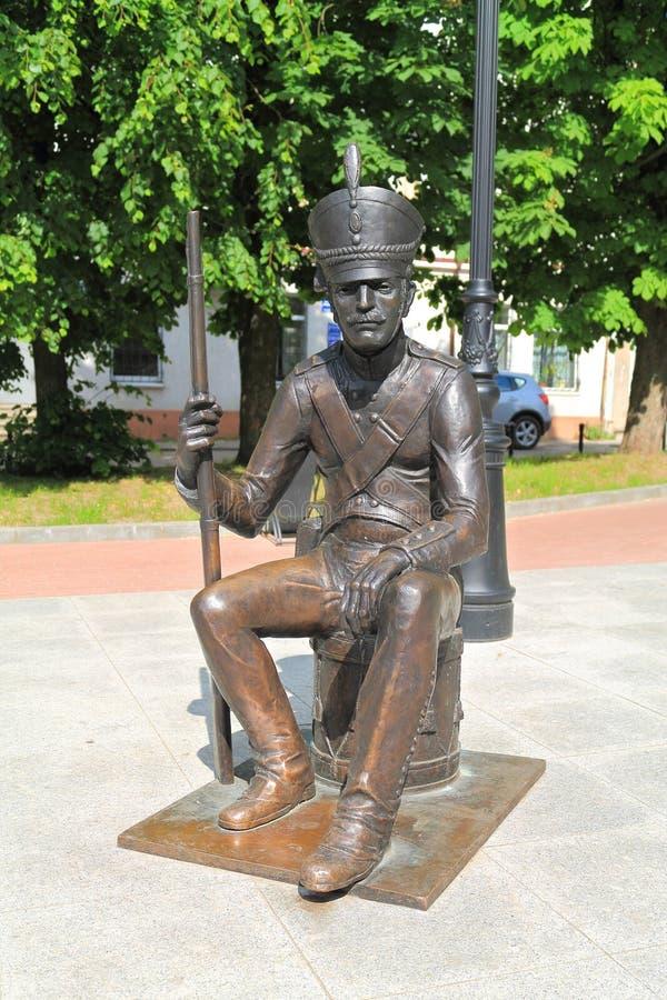 对俄国皇家军队的战士的纪念碑 免版税图库摄影