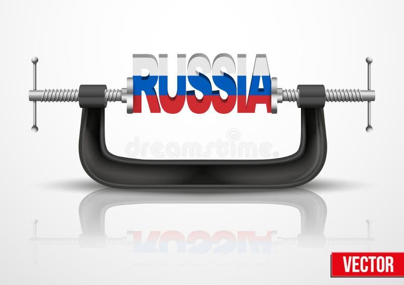 对俄罗斯的制裁在克里米亚 向量例证