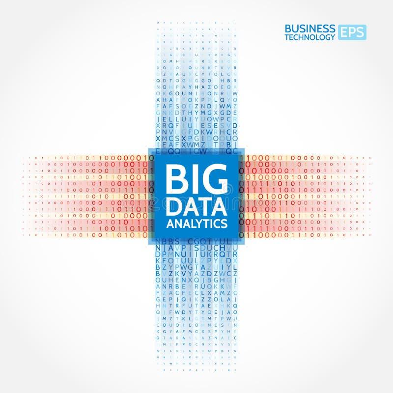 对信息的分析 数据采集形象化 抽象数字式排序的信息 皇族释放例证