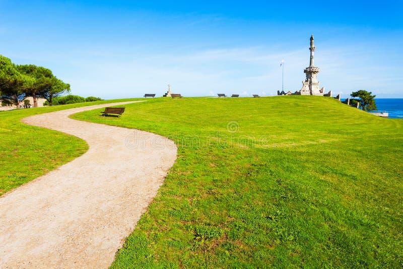 对候爵de科米利亚斯的纪念碑 免版税库存图片