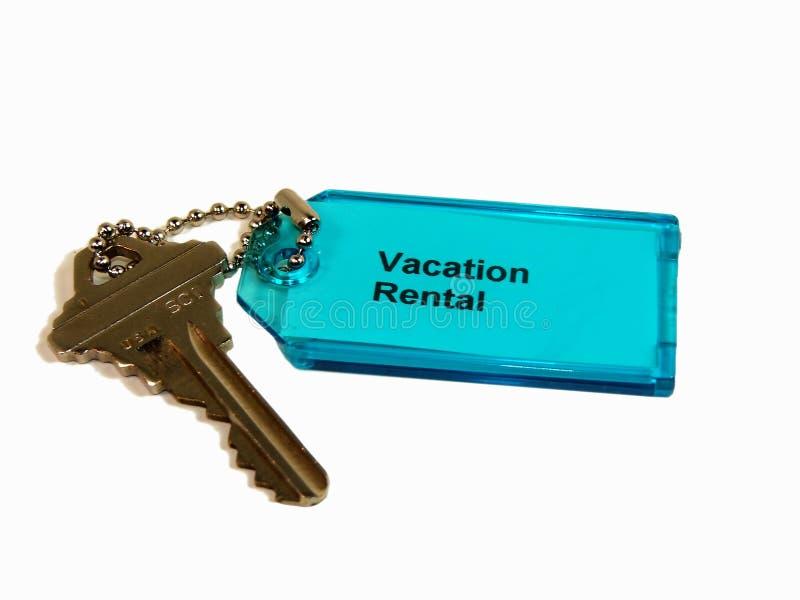 对假期的关键租务 免版税库存照片