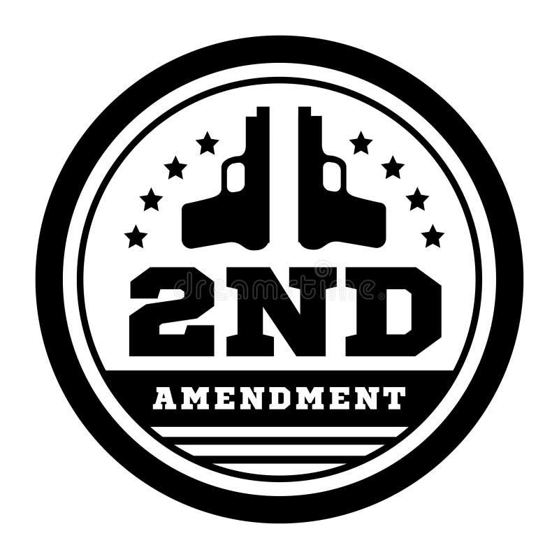 对允许武器拥有的美国宪法的第二个校正 在白色的传染媒介例证 库存例证