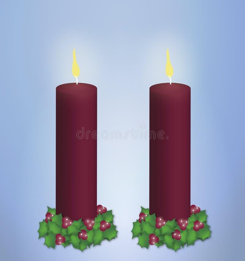 对光检查圣诞节柱子红色 库存例证