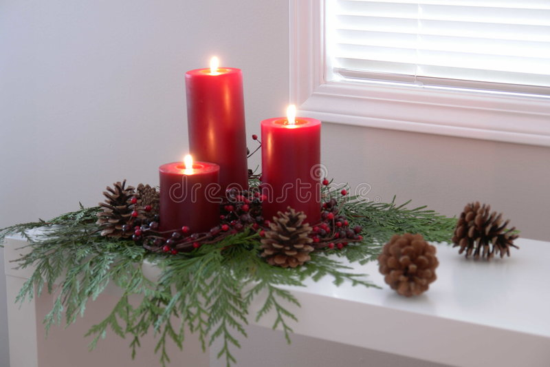 对光检查圣诞节 库存图片