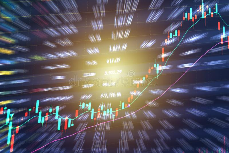 对光检查棍子股市投资贸易图表图  库存例证