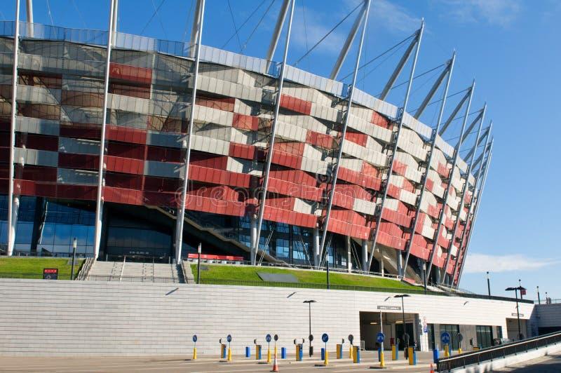 对全国体育场的入口在华沙,波兰 免版税图库摄影