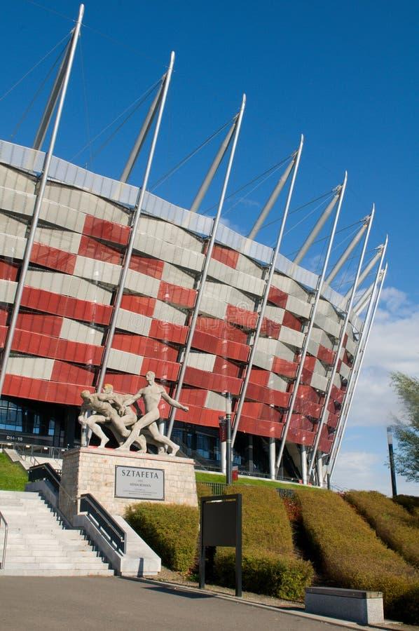 对全国体育场的入口在华沙,波兰 库存图片
