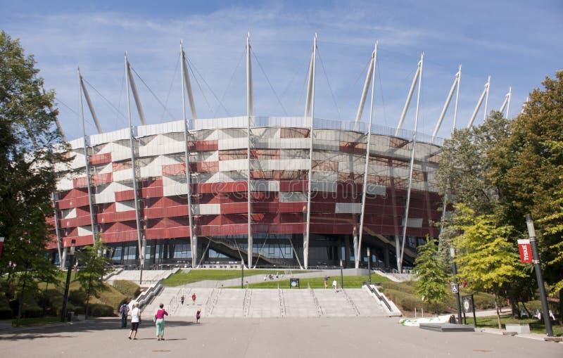 对全国体育场的入口在华沙 库存图片